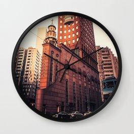 The church-02 Wall Clock