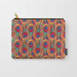 Beautiful Summery Peacock Feathers Pattern Carry-All Pouch