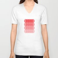 ombre V-neck T-shirts featuring Ombre by TypeArtist