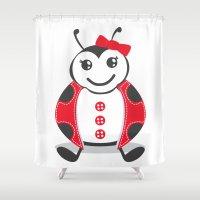 ladybug Shower Curtains featuring LadyBug by Alìta Design