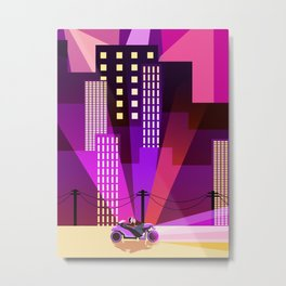Cityscapes, Synthwave, and A Blinding Amount of Lights Metal Print