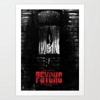 psycho Art Prints featuring Psycho by Dan K Norris