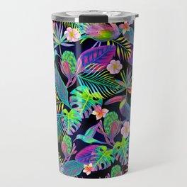Abundant Neon Paradise Travel Mug