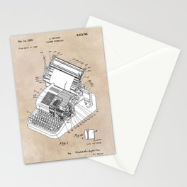 patent art Yutang Chinese typewriter 1952 Stationery Cards