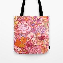 Detailed summer floral pattern Tote Bag