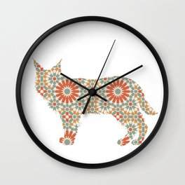 LYNX SILHOUETTE WITH PATTERN Wall Clock