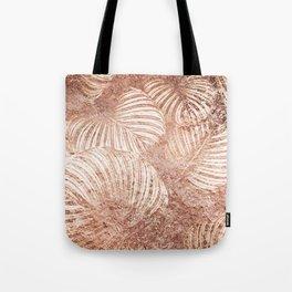 Rose golden leaves Tote Bag