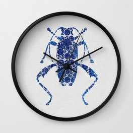 Blue Beetle IV Wall Clock