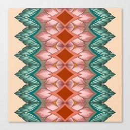 Diamond Leaves Pattern Canvas Print