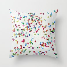 Confetti by Robayre Throw Pillow