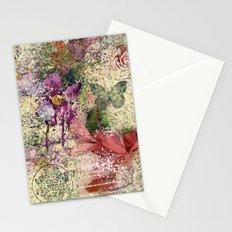 Garden shabby texture Stationery Cards