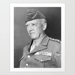 George S. Patton Portrait Art Print