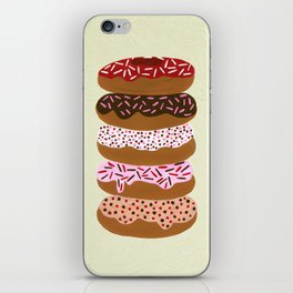 Stacked Donuts on Cream iPhone Skin