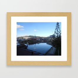 Wellington Waterfront - Boatshed Framed Art Print