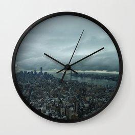 Rainy Day in NYC  Wall Clock
