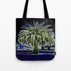 Magic night with Palm tree Tote Bag