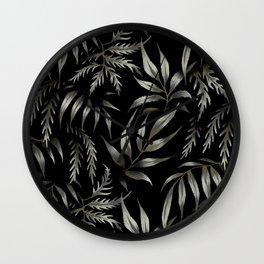 Brooklyn Forest - Black Wall Clock