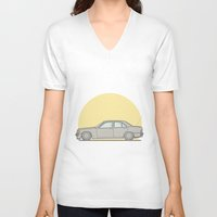 mercedes V-neck T-shirts featuring Mercedes-Benz 190E 2.5 Cosworth vector illustration by Underground Worm