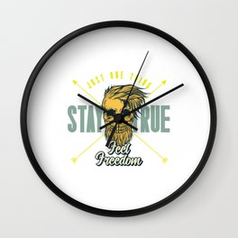 Just One Thing Stay True Wall Clock