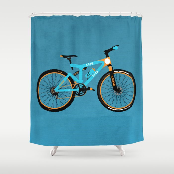 Mountain Bike Shower Curtain