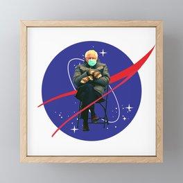 bernie sanders mittens king of space Framed Mini Art Print
