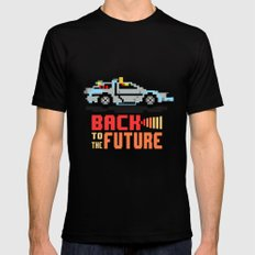 Back to the future: Delorean Mens Fitted Tee 2X-LARGE Black