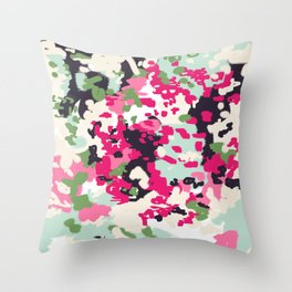Cass - abstract minimal painting customized home decor original art by charlotte winter Throw Pillow