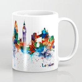 London Watercolor Skyline Silhouette Coffee Mug