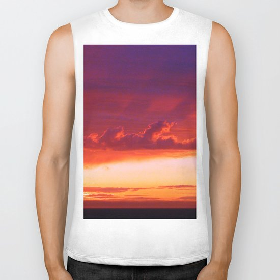 Clouds and Shadows Biker Tank