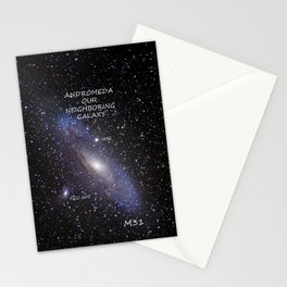 ANDROMEDA, OUR NEIGHBORING GALAXY Stationery Cards