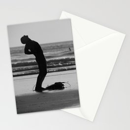 Stretching Surfer Stationery Cards