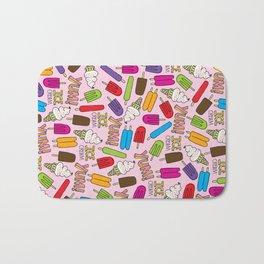 Ice Cream Doodles Bath Mat