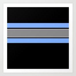 Team Colors 2...Light blue , gray Art Print