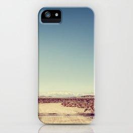 Railroad Crossing California desert iPhone Case