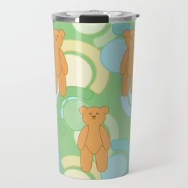 Tedy Bear Bonanza - Green Travel Mug