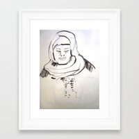 arab Framed Art Prints featuring arab woman by Maureen Shirley