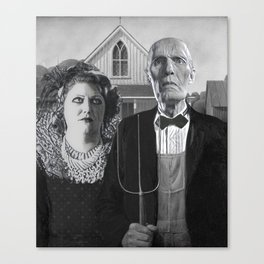 White Lodge Gothic Canvas Print