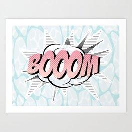 Water comics pastel boom Art Print