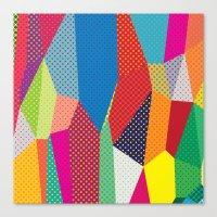 dots Canvas Prints featuring Dots by Joe Van Wetering