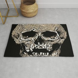 Full Skull With Rotting Flesh Vector Rug