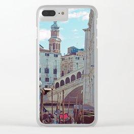 Venice - Rialto Bridge and Gondola Clear iPhone Case
