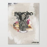 psycho Canvas Prints featuring Psycho by Molokid