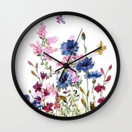 Wildflowers IV Wall Clock