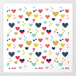 cheerful hearts Art Print