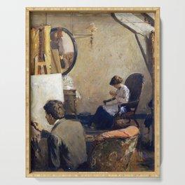 Arthur Clifton Goodwin Louis Kronberg in His Studio in Copley Hall Serving Tray