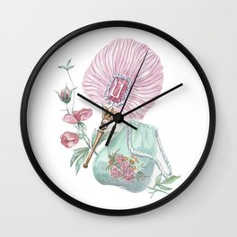 Fan and handbag in the style of Marie Antoinette Wall Clock