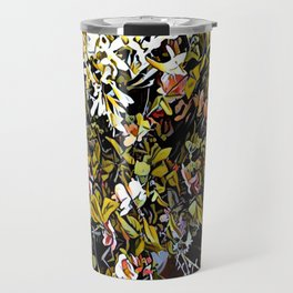 Yellow and Pink Bouquet of Flowes Travel Mug