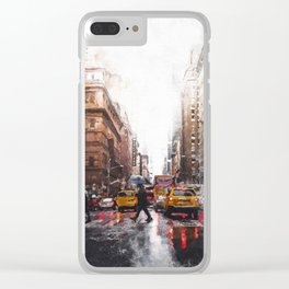 New York Streets Clear iPhone Case