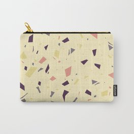 Yellow and Pink Terrazzo - Marble Granite Speckle Pattern Carry-All Pouch
