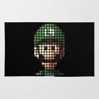 luigi Area & Throw Rugs featuring Pictodotz - Luigi by dudsbessa